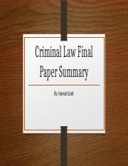 Criminal Law Final Paper Summary.pptx