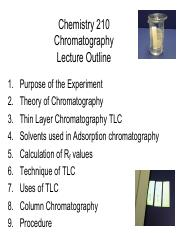 210 Lecture 4 Chromatography Fall 2014-15