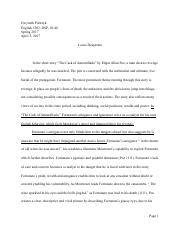 the cask of amontillado documents course hero the cask of amontillado formal essay