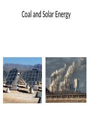 Coal and Solar energy