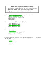 Practice for Final Quiz (KEY-FINAL)