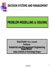 IME611 - 1.2 Problem Modelling and Solving