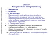 Chapter 1. management and management theory