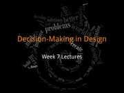 Decision-Making in Design (C01)