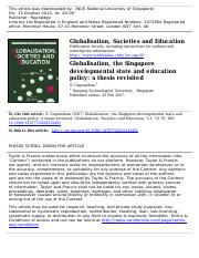 Globalisation in Education