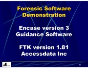 INFOSYS 727 Session on forensic