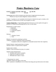 Notes Business Law