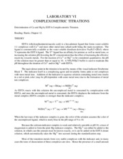 chm COMPLEXOMETRIC TITRATIONS
