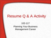 Resume Q _ A Activity - KEY-2