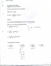 integrals of inverse trig function notes