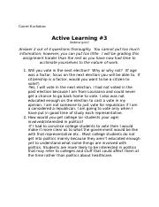 Active learning 3 fed