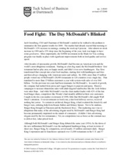 Food Fight-The Day McDonalds Blinked