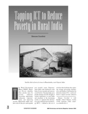 11- TAPPING ict-TO REDUCE POVERTY India