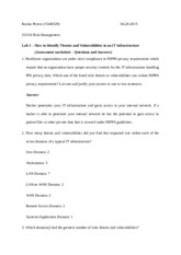 Lab 1- (Assessment worksheet – Questions and Answers)