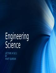 Lecture 9 - 2.1 - Engineering Science.odp
