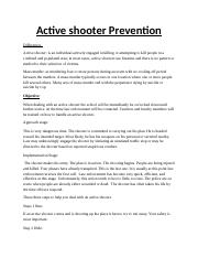 Active shooter Prevention.docx