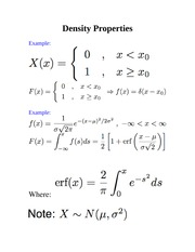 Density Properties