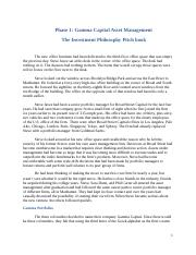 Phase 1 Developing the Investment Philosophy Pitchbook-2