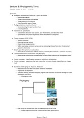 Lecture 8 Phylogenetic Trees
