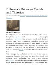 6. model and theory