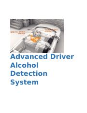 Introduction to Advanced Driver Alcohol Detection System.docx