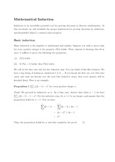 Math 345 Mathemetical Induction Notes
