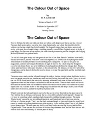 thecolouroutofspace