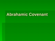 8_Abrahamic Covenant