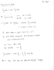 14. Integration by Parts Notes