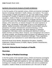 symbolic interactionist research paper Read this full essay on applications of symbolic interactionism theory   however, in doing research for this paper, i discovered that contrary to what our  book.