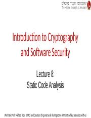Lecture 8 -- Static Code Analysis.pptx