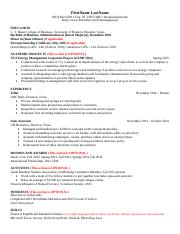 1 Pages RCC Sample Resume Format