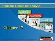 Ch. 17 Financial Analysis