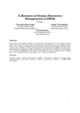 E-Business in Human Resources Paper