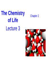 2. The chemical basis of life (students)