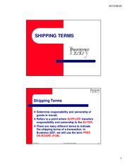 Shipping Terms Topic Slides