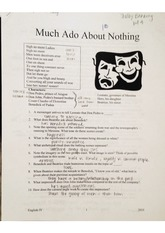 Much Ado About Nothing Notes