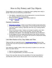 How to Dry Pottery and Clay Objects.docx
