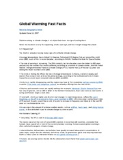 Global Warming Fast Facts