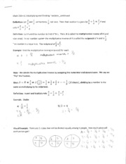 MATH 208 Section 6.3 Cont. Worksheet