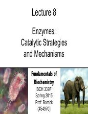 Lecture-8 - Enzyme Mechanisms