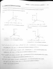 Ans 9.7 - Cylindrical & Spherical Coordinates & ch 9 rev