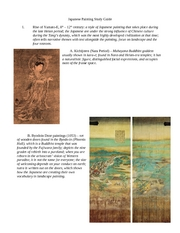 Japanese Painting Study Guide