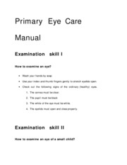 Primary  Eye  care  manual