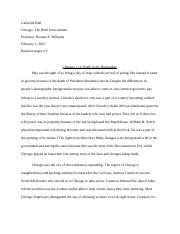 Gabrielle Hall Reaction Paper #2 Chicago.docx