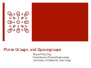 06 - Plane groups and Spacegroups(1)