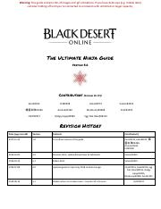 BDO Ninja Guide pdf - Warning This guide contains lots of images and