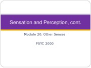 PSYCH 2000-Sensation Perception Modules-20-22