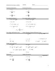 S16 Final Exam Equation Sheet