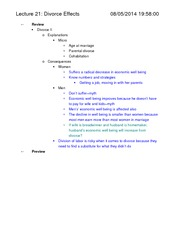 Soc 120-Notes-Divorce Part 1